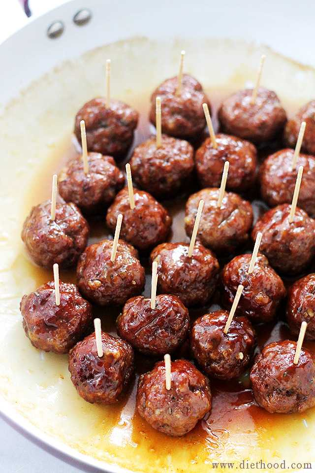 Brown Sugar Glazed Turkey Meatballs, 25 Best Appetizers to Serve