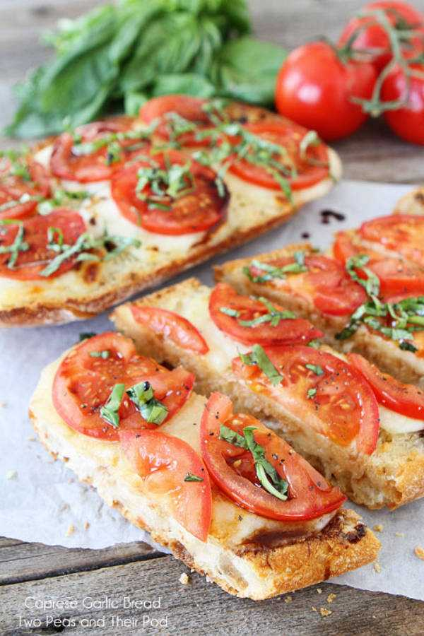 Caprese Garlic Bread, 25 Best Appetizers to Serve