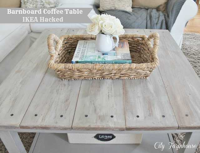 IKEA Hack Barnboard Coffee Table