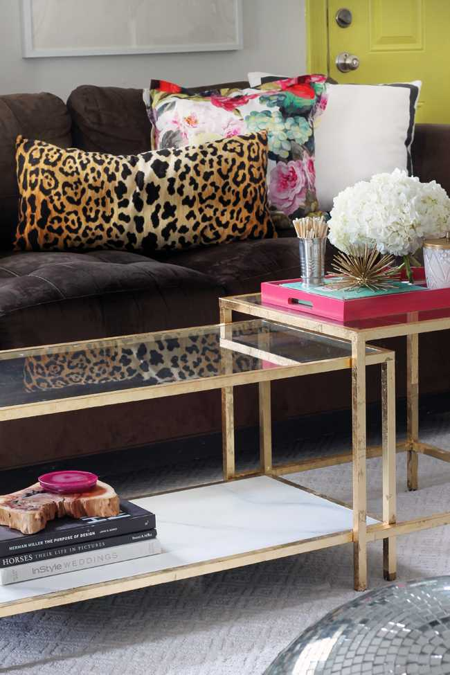 IKEA Hack Gold Leaf Tables