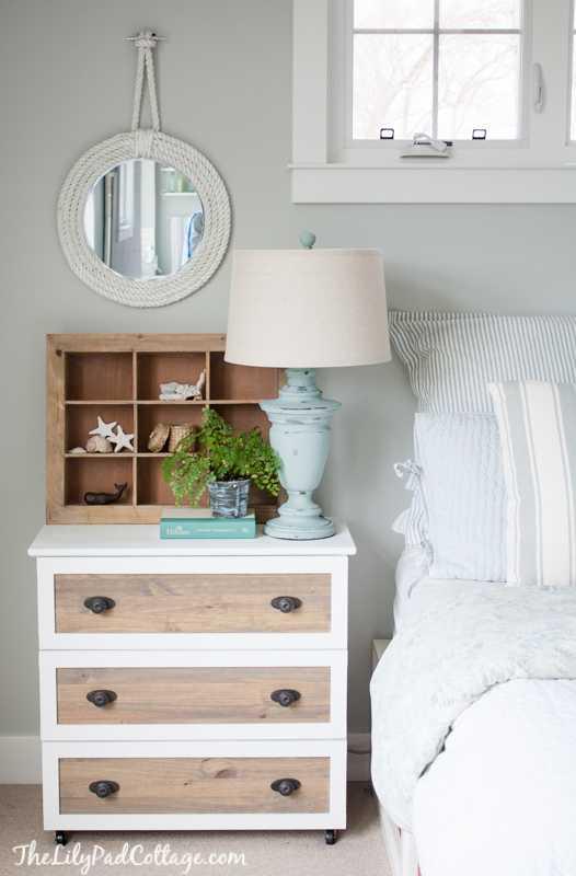 IKEA Hack Tarva Dresser into Nightstand