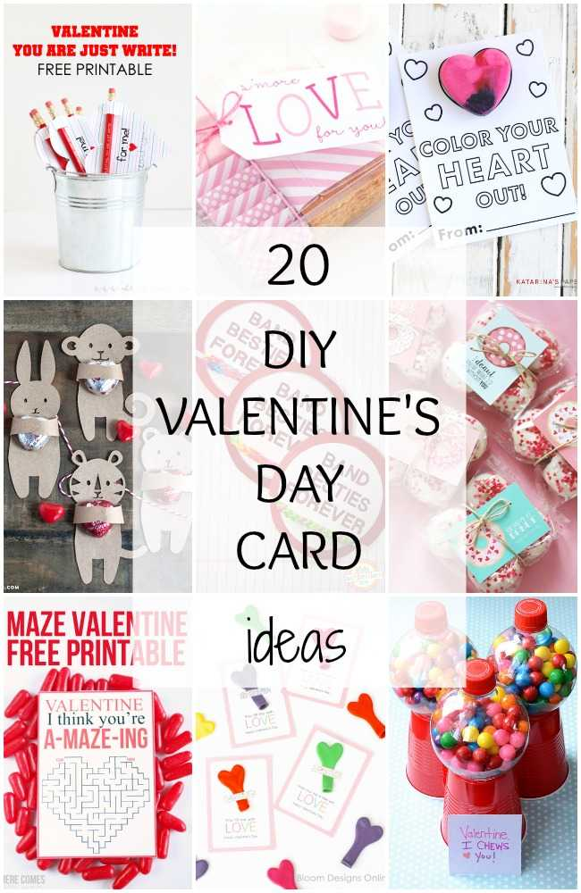 DIY Valentines Day Card Ideas 20 BEST Ideas – Homemade Valentine Card Ideas