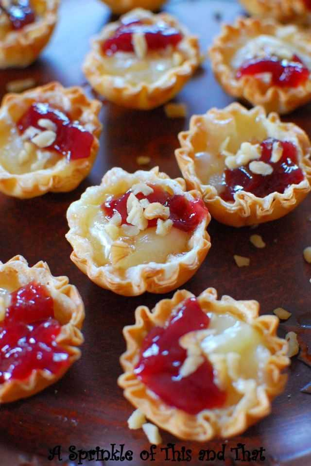 Raspberry Brie Tartlets, 25 Best Appetizers to Serve