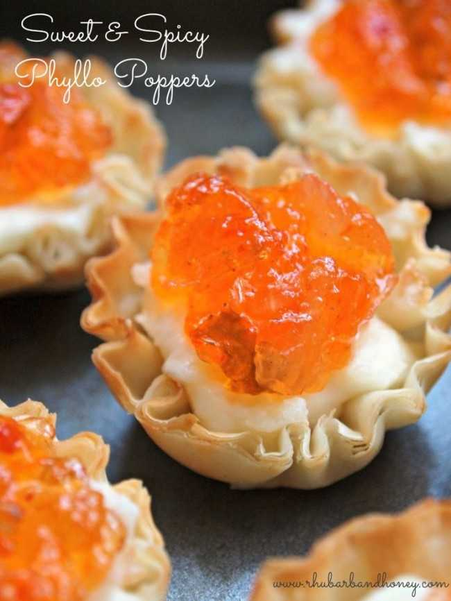Sweet and Spicy Phyllo Poppers, 25 Best Appetizers to Serve