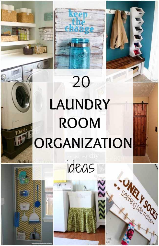 20 Laundry Room Organization Ideas you can't live without!