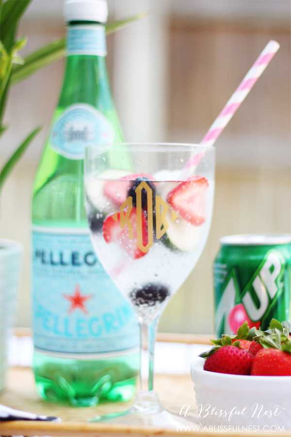 Combining fresh berries and cucumbers for a sweet tasting drink! See more on https://ablissfulnest.com/ #drinkrecipes