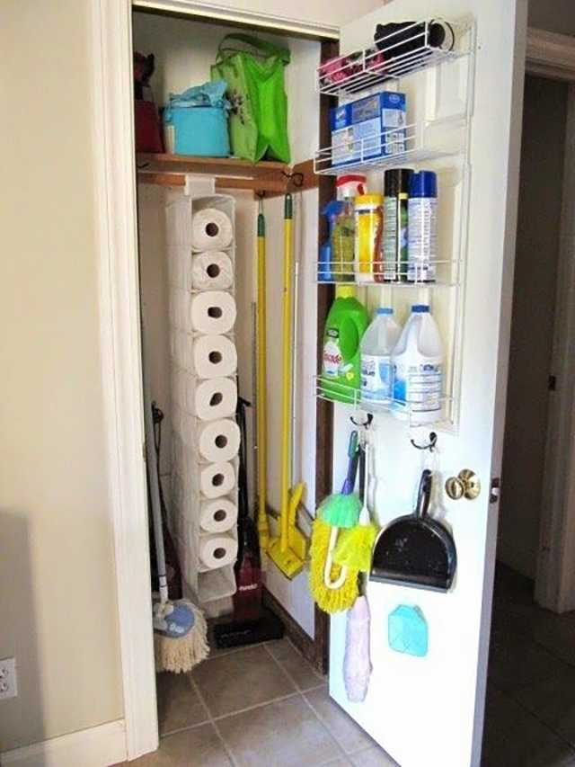 Broom Closet Organization, 25 Kitchen Organization Ideas