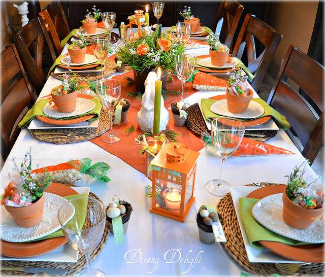 Carrots and Bunnies Easter Table by Dining-Delight, 10 Easter Table Ideas
