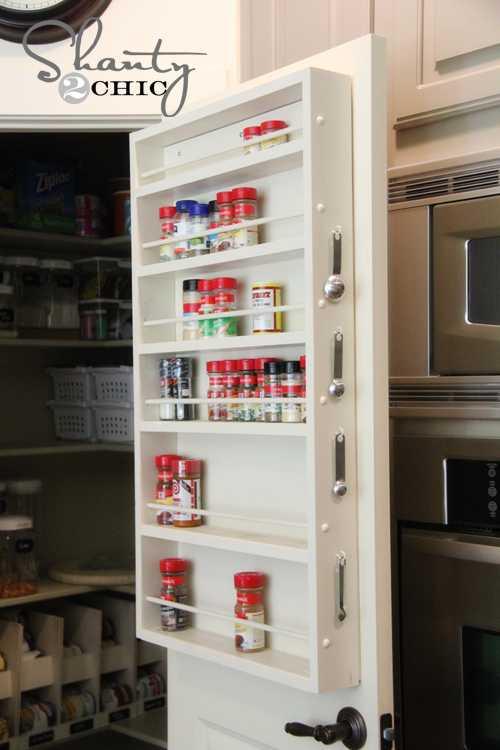 DIY Door Spice Rack, 25 Kitchen Organization Ideas