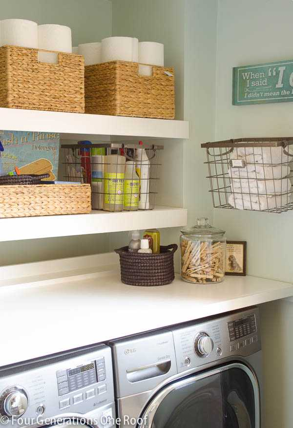 DIY Floating Shelves, 20 Laundry Room Organization Ideas