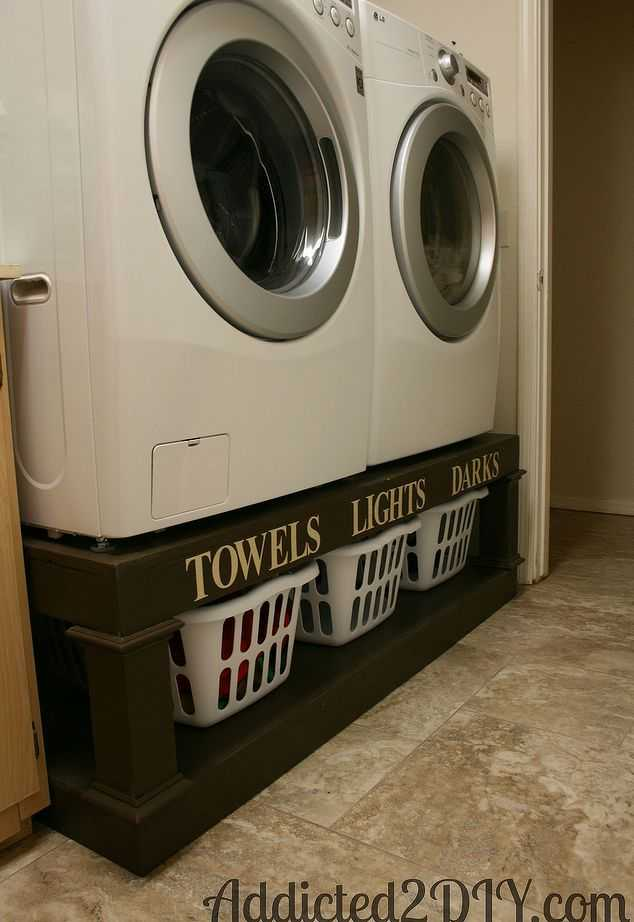 DIY Laundry Pedestal, 20 Laundry Room Organization Ideas