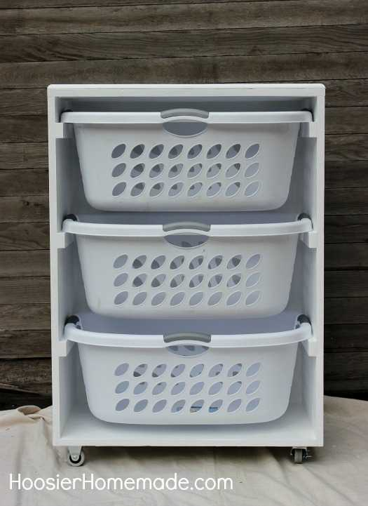 DIY Mobile Laundry Station, 20 Laundry Room Organization Ideas