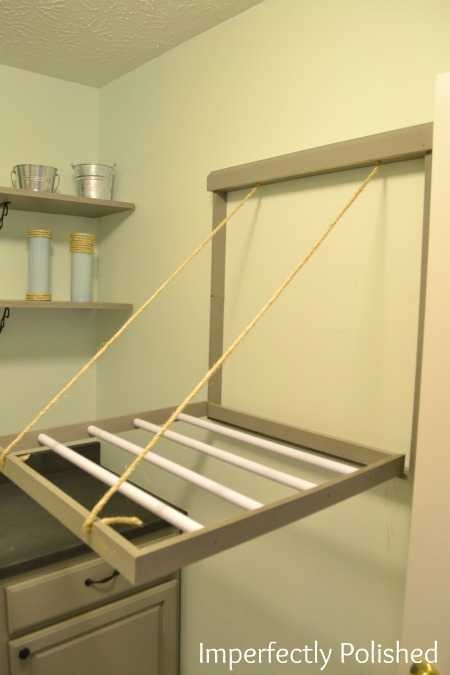 DIY Pull Down Drying Rack, 20 Laundry Room Organization Ideas