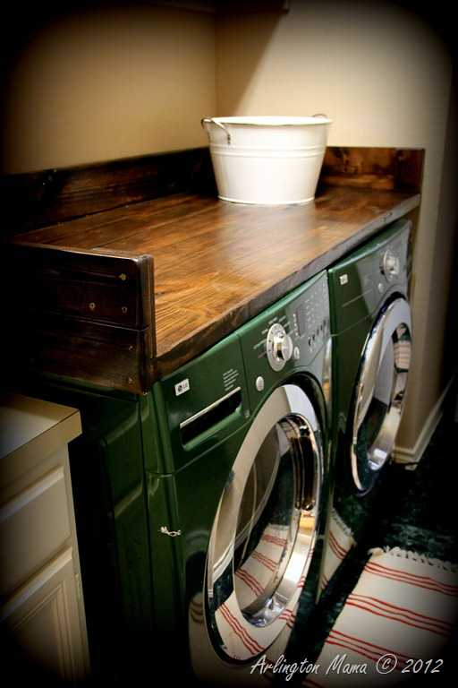 DIY Wood Laundry Shelf, 20 Laundry Room Organization Ideas