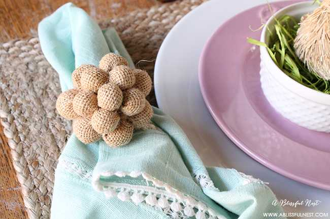 Easter Table Decor by A Blissful Nest