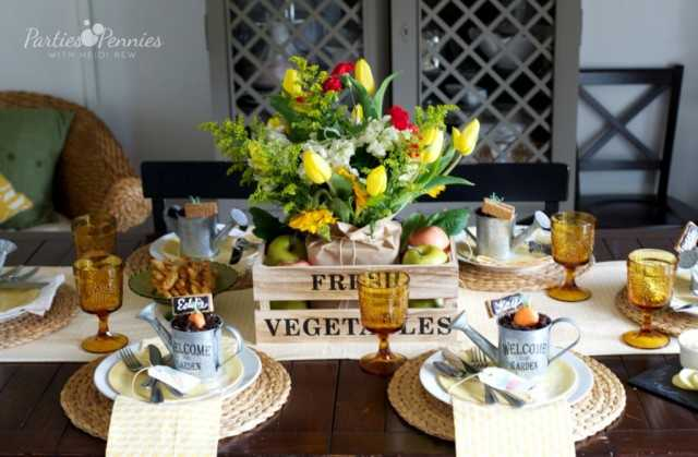 Farmers Market Easter Bruch Party by Parties for Pennies, 10 Easter Table Ideas