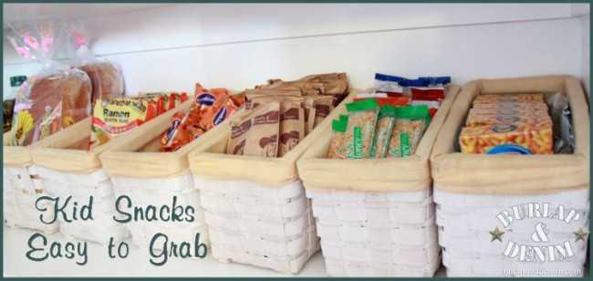Grab and Go Snack Station, 25 Kitchen Organization Ideas