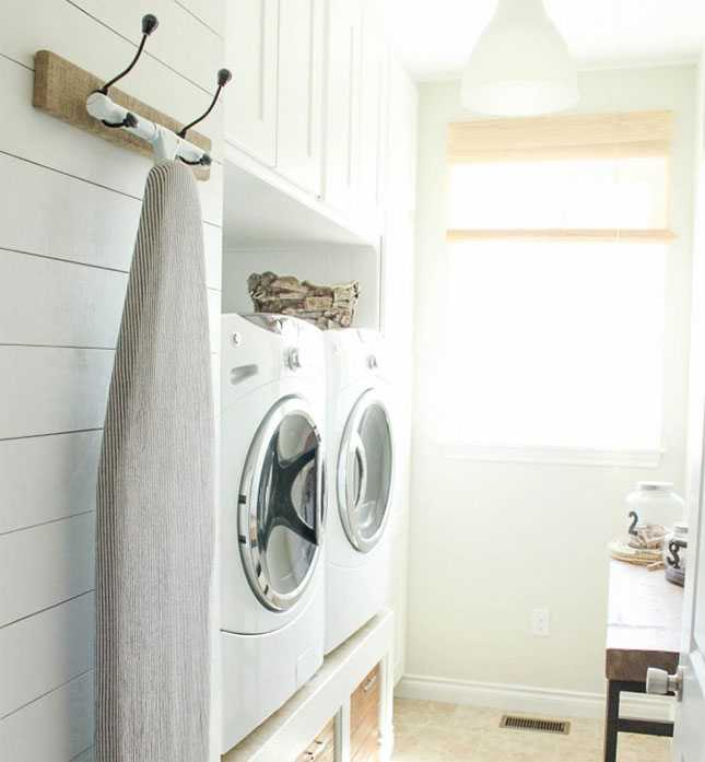 Hanging Ironing Board Rack, 20 Laundry Room Organization Ideas