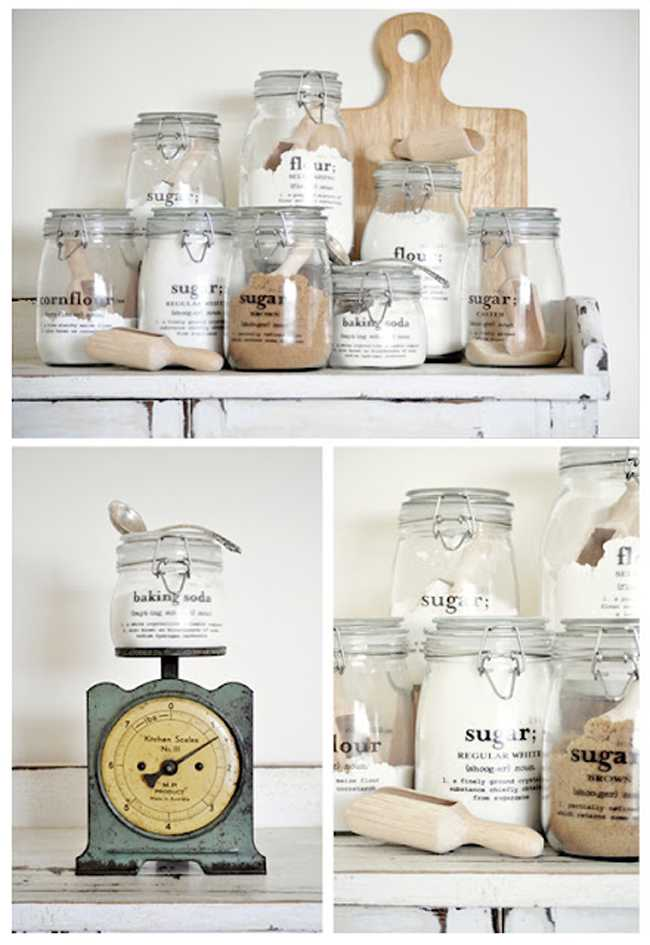 Magic Decal Tutorial for Jar Labels, 25 Kitchen Organization Ideas