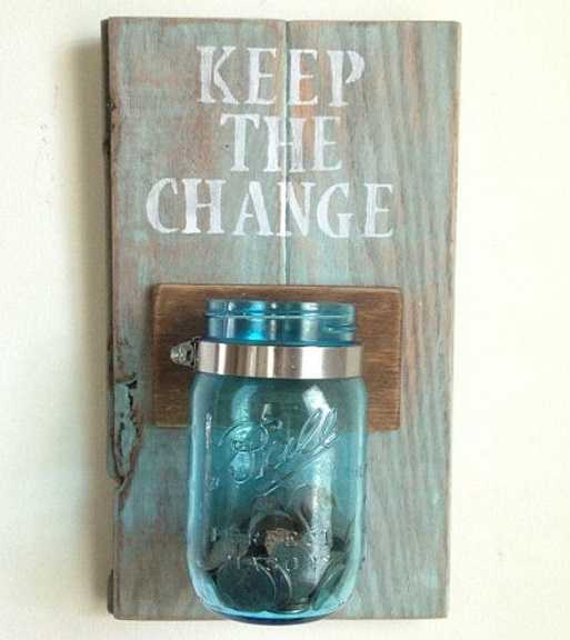 Pocket Change Mason Jar, 20 Laundry Room Organization Ideas