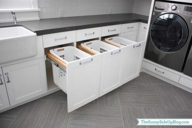 Pull Out Laundry Drawers, 20 Laundry Room Organization Ideas