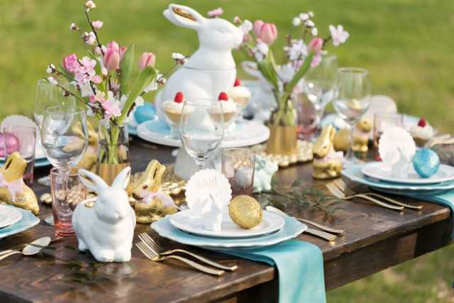 Rustic Chic Easter Table by Pizzazzerie, 10 Easter Table Ideas