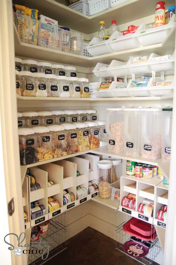 Stackable Canned Food Organizers, 25 Kitchen Organization Ideas