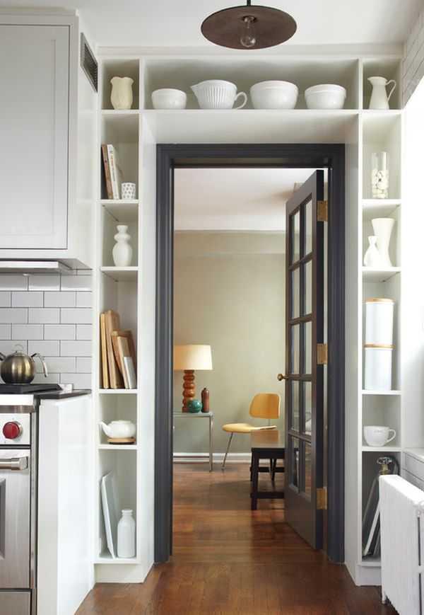 Storage around Door Frame, 25 Kitchen Organization Ideas