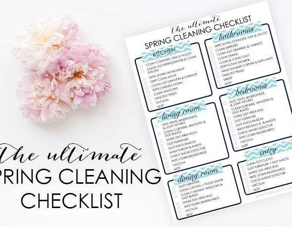 The ultimate spring cleaning checklist to refresh your home for spring via ablissfulnest.com