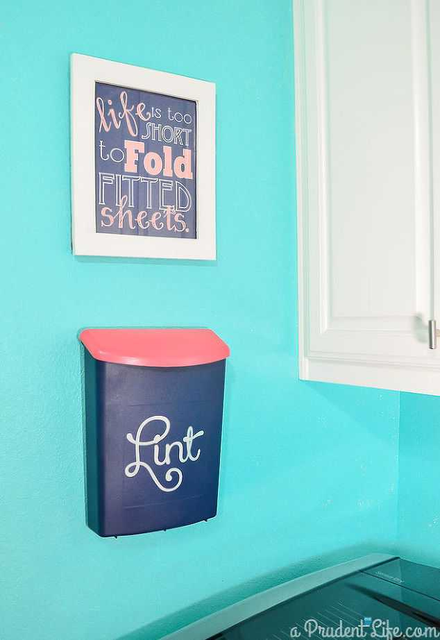Wall Mounted Lint Bin, 20 Laundry Room Organization Ideas