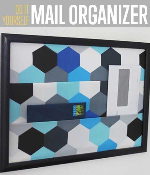 Wall Mounted Mail Organizer, 25 Kitchen Organization Ideas