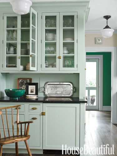 There are so many ways to use green in your home! Come get all the ideas on decorating with green via ablissfulnest.com