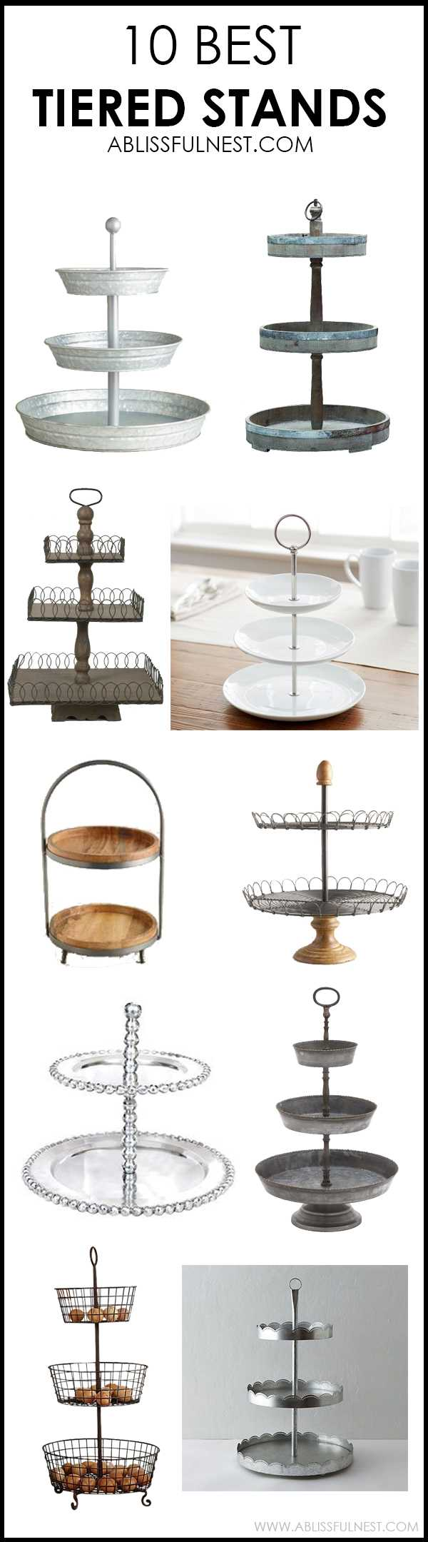 We LOVE tiered stands in the bathroom, kitchen and just about anywhere to store and decorate small items. We've rounded up THE BEST tiered stands out there! By A Blissful Nest https://ablissfulnest.com/