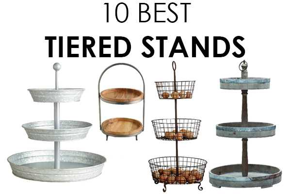 We LOVE tiered stands in the bathroom kitchen and just about anywhere to store and  sc 1 st  A Blissful Nest & The BEST Tiered Stands for Affordable Decorating Friday Favorites ...