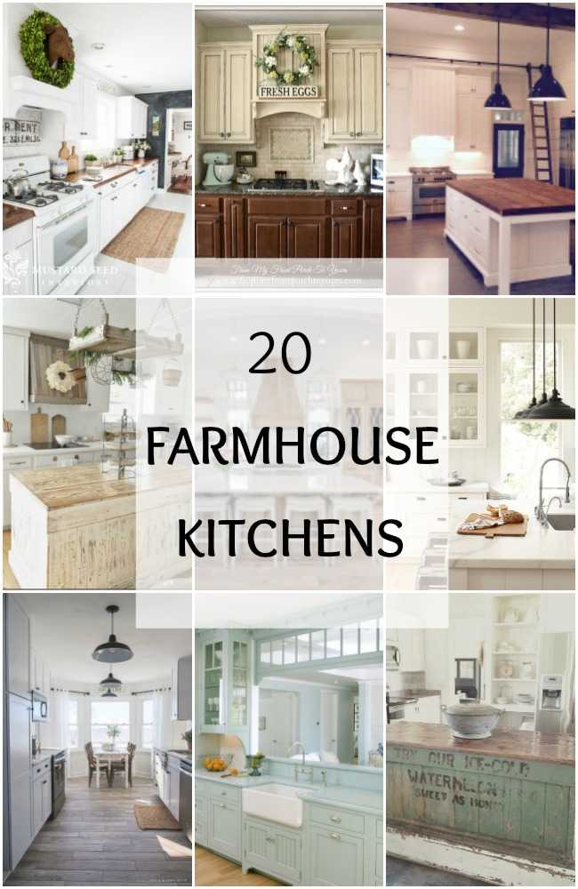 20 farmhouse kitchens for fixer upper style industrial flare - Farmhouse style kitchen cabinets ...