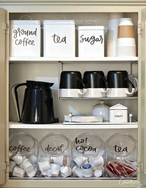 Love this coffee bar cabinet from The Creativity Exchange!