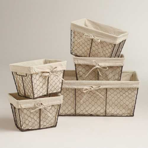 Charlotte Lined Wire Baskets - World Market, Top 30 Organization Products