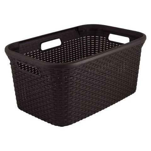 Curver 45L Plastic Rectangular Brown Laundry Basket - Target, Top 30 Organization Items