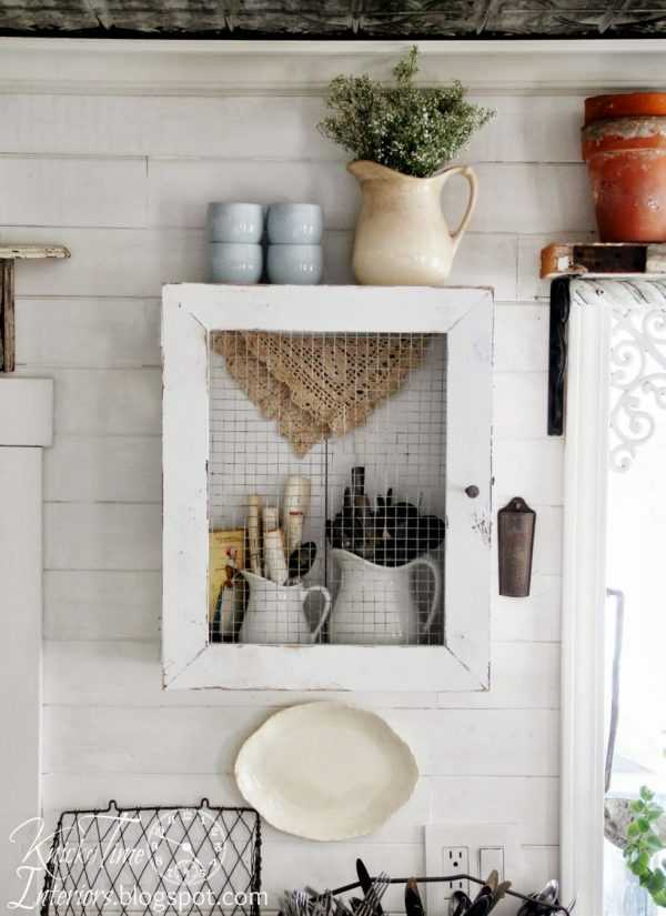 DIY Primitive Wall Cabinet by Knick of Time, 20 DIY Farmhouse Projects