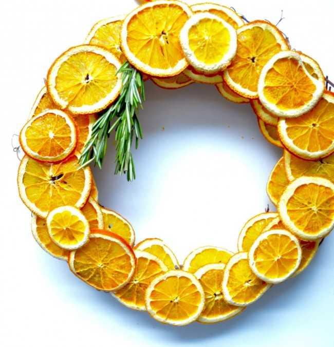 Dried Citrus Wreath by Twine and Table, 15 Best Spring Wreaths