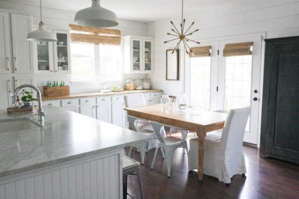 20 farmhouse kitchens for fixer upper style + industrial flare