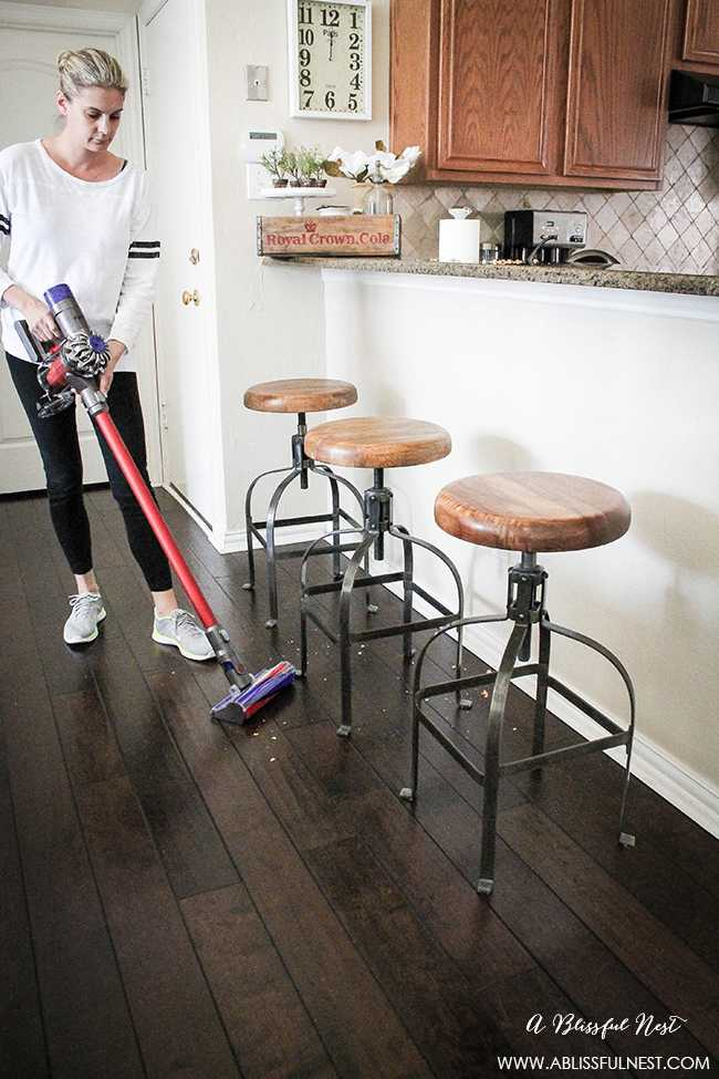 We're showing you how to clean hardwood floors in 2 simple steps! Life just got a bit easier! via http://ablissfulnest.com/