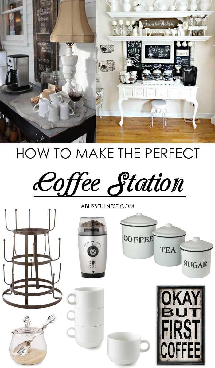 Coffee Bar Ideas - How To Make A Coffee Bar At Home