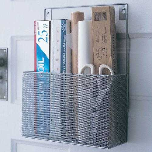 Mesh Wall Mount Pantry Caddy and Wrap Rack - Wayfair, Top 30 Organization Products
