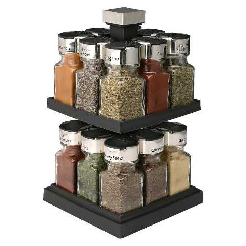 Olde Thompson Square Rotating Spice Rack with Jars - Target, Top 30 Organization Products