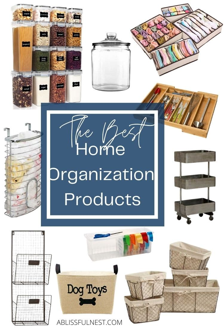 Organization ideas for every room of the house. From drawer organizers to label systems, these are all the top organization products! #ABlissfulNest #organization #organizationideas
