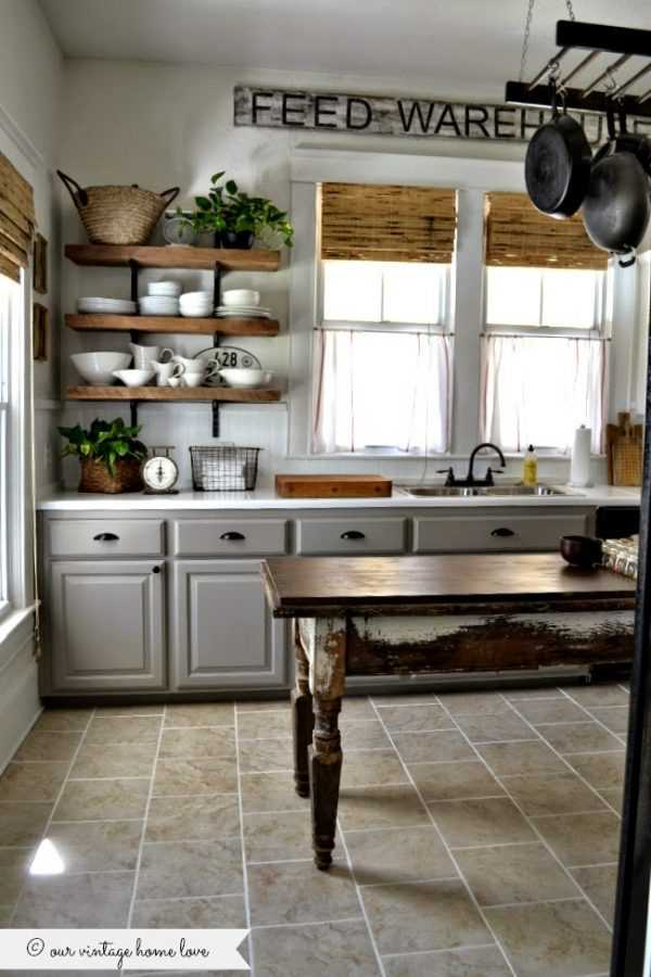Farmhouse Kitchen Design Ideas Part - 20: Our Vintage Home Love Farmhouse Kitchen, 20 Farmhouse Kitchen Ideas #kitchen  #farmhousekitchen #