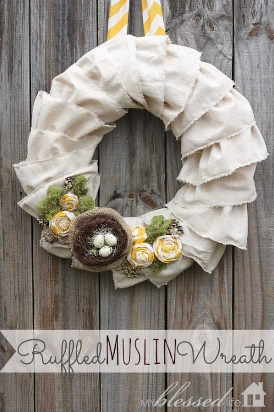 Ruffled Muslin Wreath by My Blessed Life, 15 Best Spring Wreaths