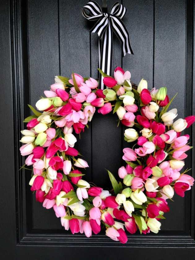 Tulip Spring Wreath by Life Love Larson, 15 Best Spring Wreaths