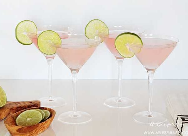 Watermelon Lemonade Martini Cocktail Recipe